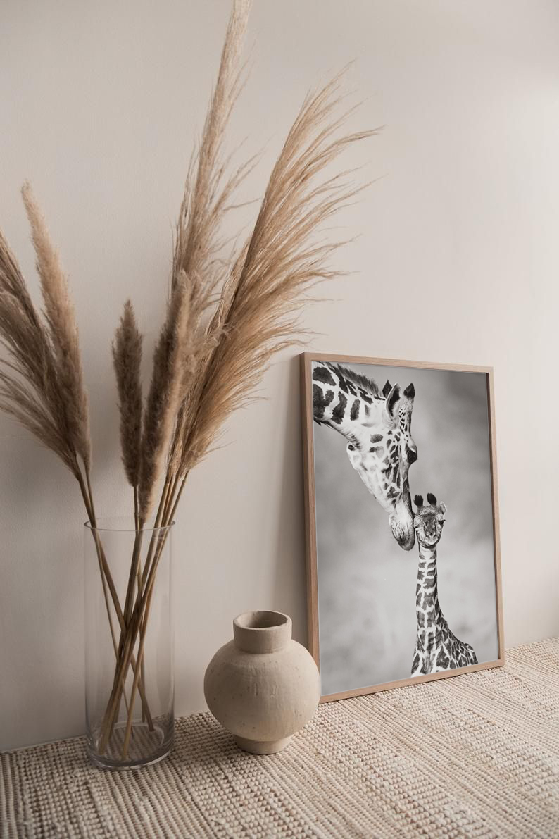 Cute Mothers Day Giraffe Print