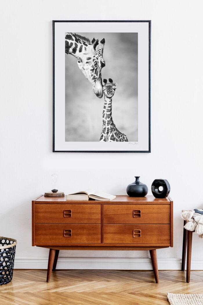Giraffe Wildlife Print