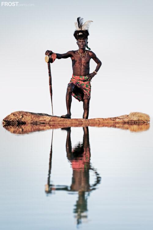 Kenyan Warrior Print Art
